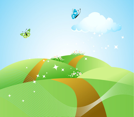 realism: Spring meadow beautiful