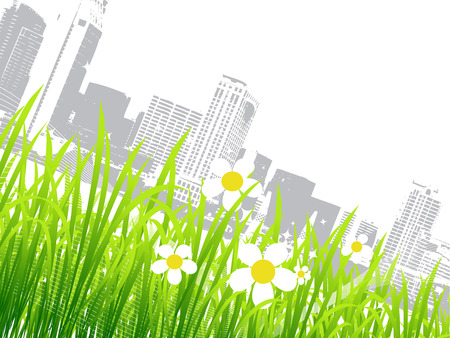 Spring in the city, flowers Vector