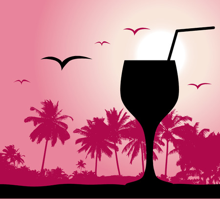 nonalcoholic: Coctail party on the beach