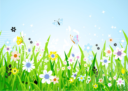 Spring meadow beautiful Stock Vector - 4562316