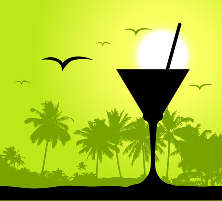 coctail: Coctail party on the beach