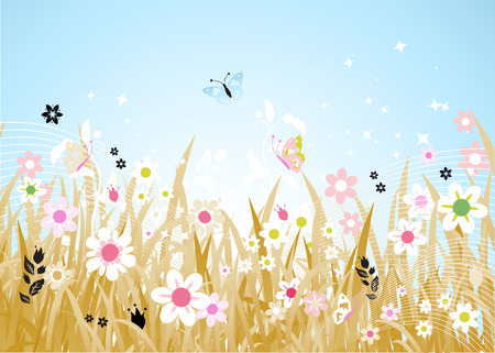 Spring meadow beautiful Stock Vector - 4562317