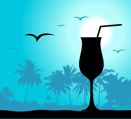 Coctail party on the beach Vector