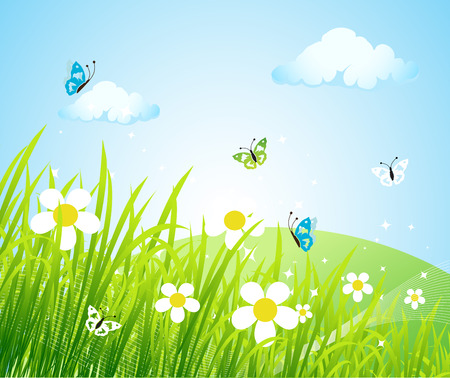 Spring meadow beautiful Stock Vector - 4562268