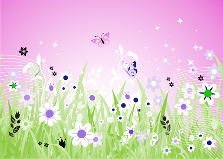 Spring meadow beautiful Stock Vector - 4562318