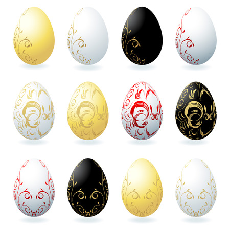 Easter eggs collection for your design Vector