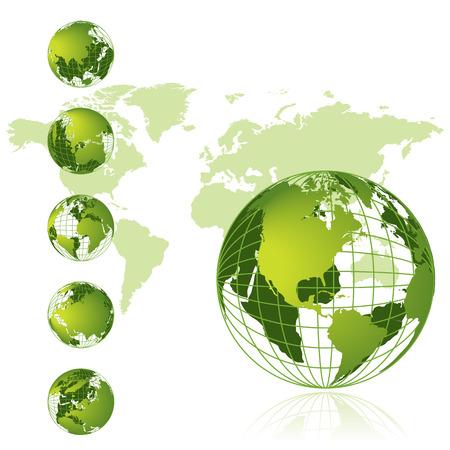 World map, 3D globe series Stock Vector - 4562359