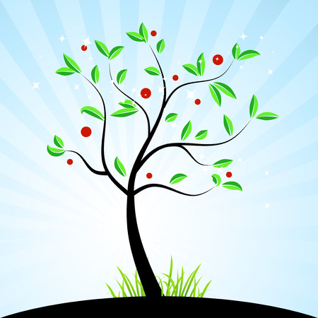 Spring tree for your design Stock Vector - 4664072