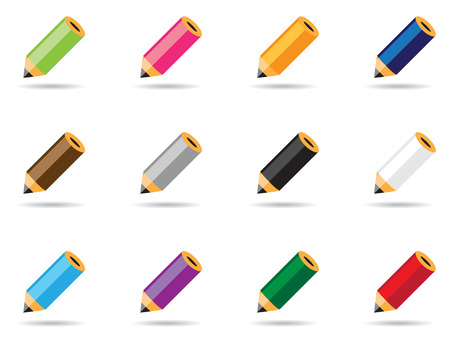 Set of colored pencils for your design Vector