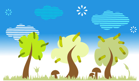 Nature landscape with trees Stock Vector - 4803803