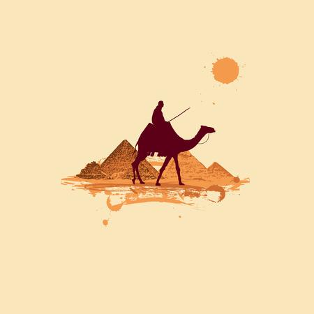 giza pyramids: Pyramid in desert, traveling