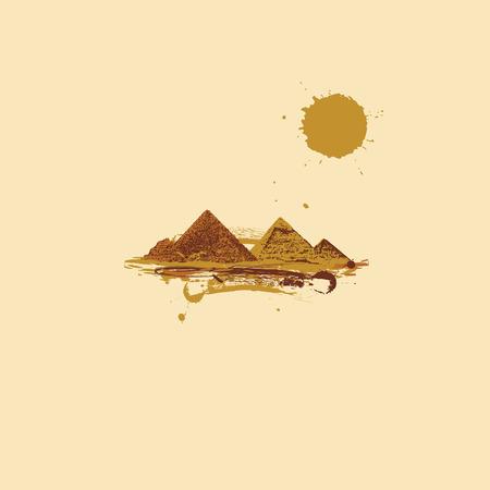 Pyramid in desert Stock Vector - 4837444