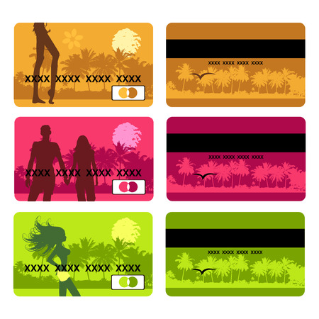 Bank card design, holiday and travel Vector