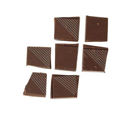 Chocolate pieces photo