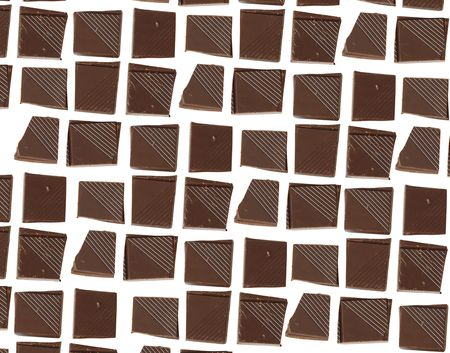 Chocolate pieces background for your design photo