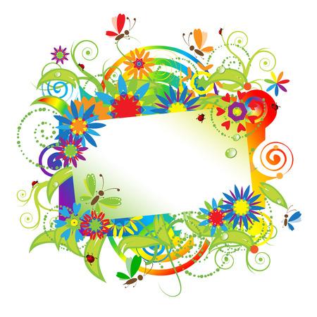 Summer dreams, greeting card Stock Vector - 4970697