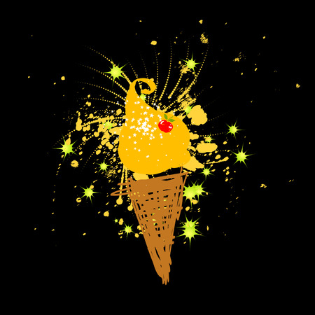 waffle cone: Funny icecream, holiday