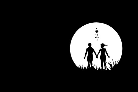Love, night scene Vector