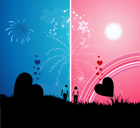 Romantic walk Stock Vector - 4970684
