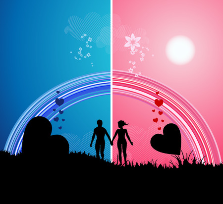 Romantic walk Stock Vector - 4970680