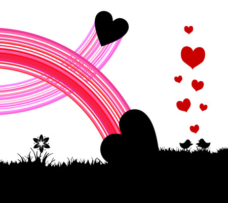 Love, birds Vector