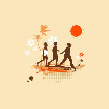 Adventures, summer holiday Illustration