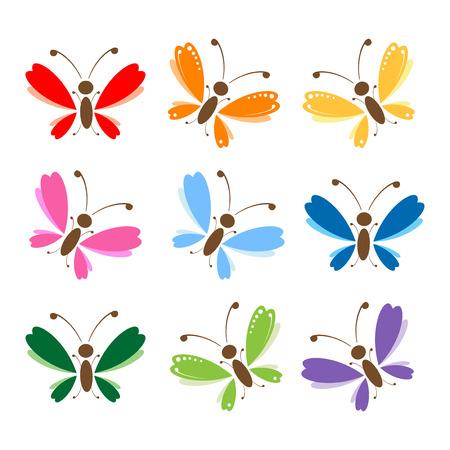 mosca caricatura: Mariposa para su dise�o