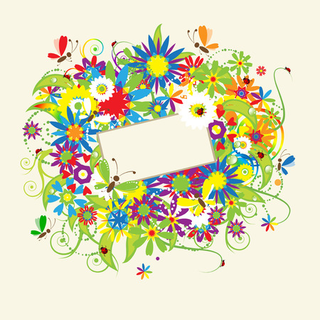 Summer dreams, greeting card Stock Vector - 5158651