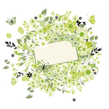 Summer dreams, greeting card Stock Vector - 5158657