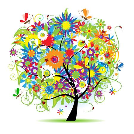 Floral schönen Baum