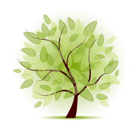 Art tree beautiful for your design Stock Vector - 5158645