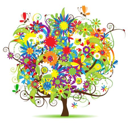 Árbol de flores hermosas
