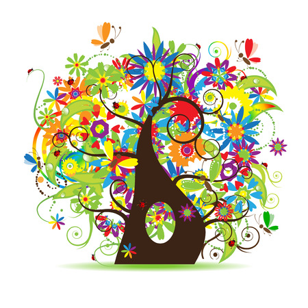 Floral tree beautiful Stock Vector - 5158653