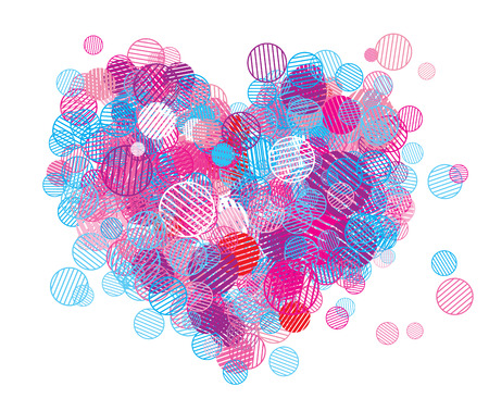Abstract heart shape for your design Vector