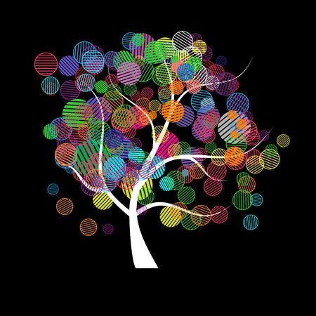 arco iris vector: Fantas�a �rbol de Arte Vectores