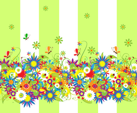 Summer day. Floral seamless background for your design Stock Vector - 5166128