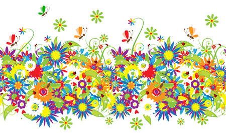Summer day. Floral seamless background for your design Stock Vector - 5166129