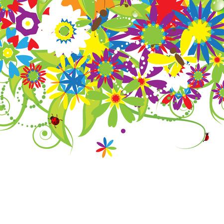 Floral bouquet, summer illustration Stock Vector - 5166099