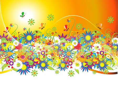 Summer background Stock Vector - 5166131