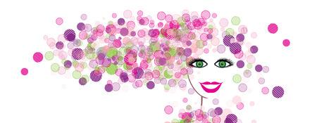 cilia: Woman face silhouette for your design