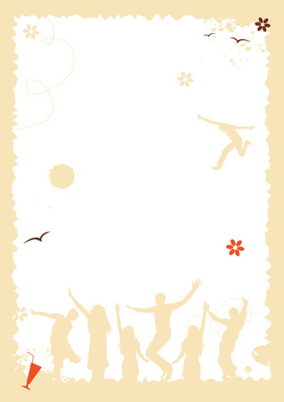 Summer holiday, frame with place for your text Vector