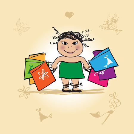 Shopaholic. See also similar work in my gallery Stock Vector - 5167981