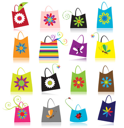 package icon: Set of shopping bags