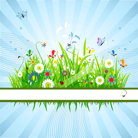 Summer meadow beautiful Stock Vector - 5186792