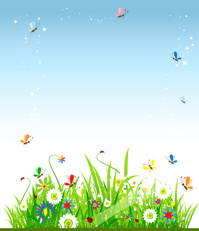 Summer meadow beautiful Stock Vector - 5186789