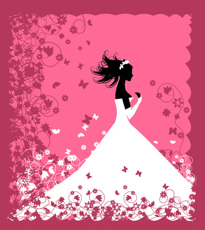 Bride. Wedding illustration for your design Vector