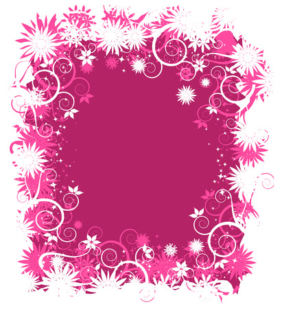 Abstract floral frame for your design Stock Vector - 5262008