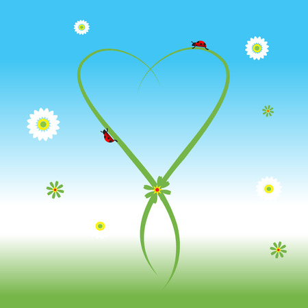 Ladybug, spring background Stock Vector - 5268115