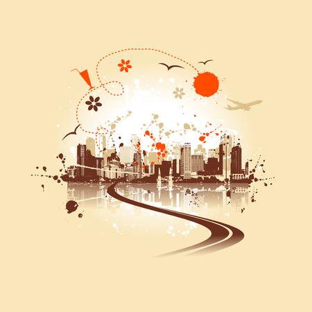 Cityscape background, urban art Stock Vector - 5268123