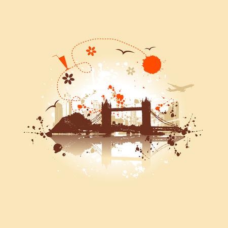 Cityscape background, urban art Stock Vector - 5268121